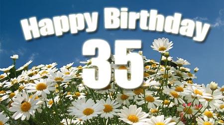 Herzlichen Glückwunsch zum 35. Geburtstag