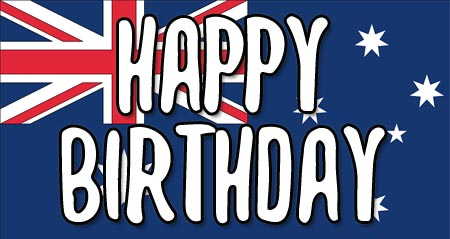 Australian Happy Birthday Flag