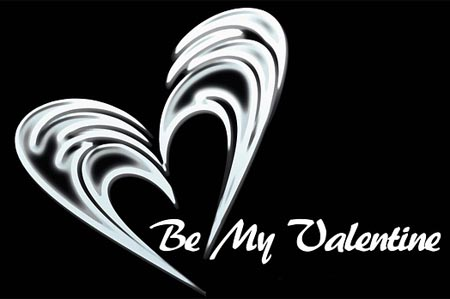 Be my Valentine - moderner Gruß zum Valentinstag
