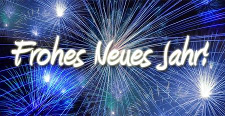 Frohe neues Jahr mit Feuerwerk