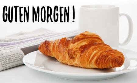 Frühstück am Morgen