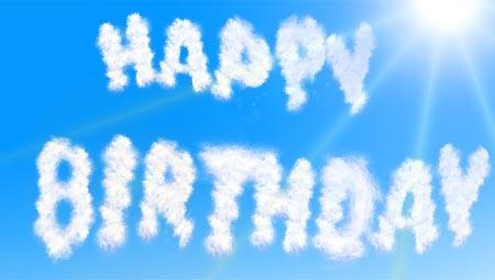 Über den Wolken muss der Geburtstag wohl grenzenlos sein