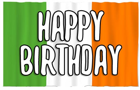 Irish Happy Birthday Flag