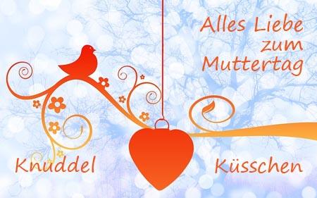 Küsschen und Knuddel zum Muttertag