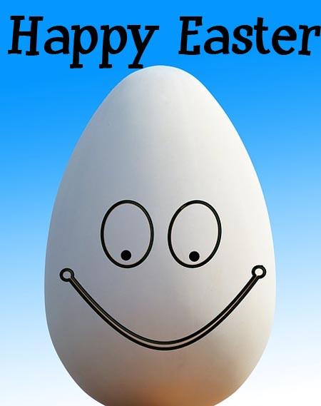 Lustiges Ei zu Ostern für Facebook