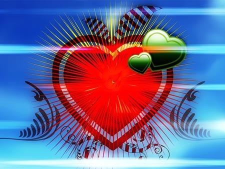 Schönes Herz zum Valentinstag