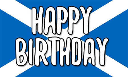 Scottish Happy Birthday Flag