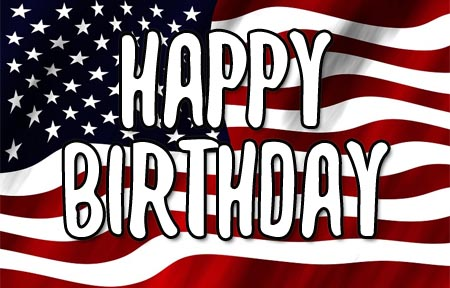 USA Happy Birthday Flag