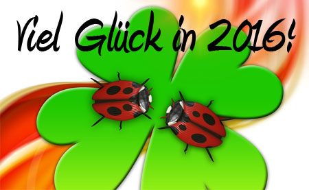 Viel Glück in 2016 Neujahrsgruß