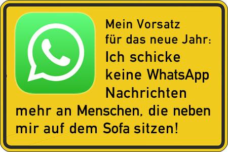 WhatsApp Vorsatz f�r das neue Jahr