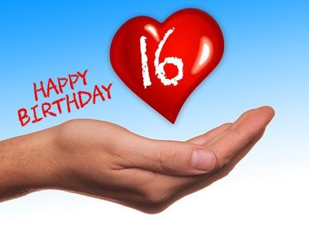 WhatsApp Glückwunsch zum 16. Geburtstag