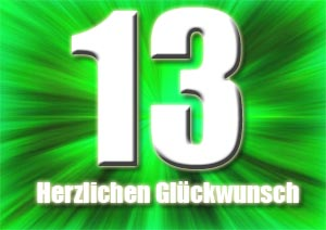 13. Geburtstag Gl�ckw�nsche