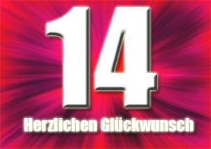 14. Geburtstag Gl�ckw�nsche