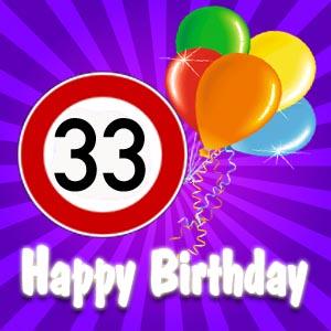 Gl�ckw�nsche zum 33. Geburtstag