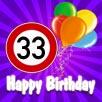 Spr�che zum 33. Geburtstag
