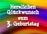 3. Geburtstag Spr�che