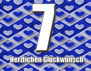 7. Geburtstag Gl�ckw�nsche