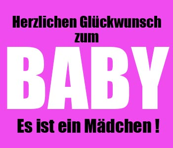 Babyglückwünsche Mädchen