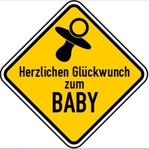 Gl�ckw�nsche zur Geburt eines Jungen