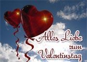 Gr��e zum Valentinstag